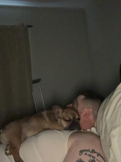 Izz Dog and Dad